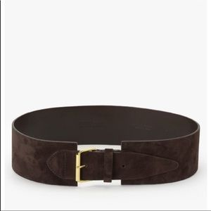 Derek lam 10,Crosby wide waist belt,dark brown,NWT